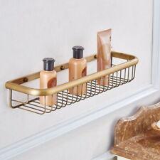 Antique Brass Wall Mounted Bathroom Shower Shelf Storage Basket Caddy Rack