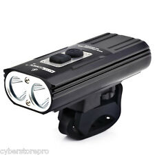 NITENUMEN X8 Cree XML2 U3 1800Lm Rechargeable LED Bicycle Light Headlights BLACK