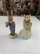 Vintage Royal Doulton Bunnykins~Bride & Groom Wedding Figurines