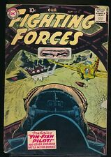 OUR FIGHTING FORCES No. 23 1957 DC War Comic Book TIN-FISH PILOT 5.0 VG/FN
