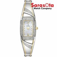 Bulova 98L128 Mother of Pearl Dial Crystals Accent Stainless Steel Ladies Watch