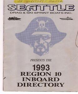 1993 Region 10 Inboard Directory, hydroplanes