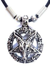 New Goat Of Mendes Devil Pentagram Satanic Baphomet Pagan Wicca Pendant Necklace