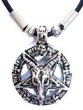 New Goat Of Mendes Devil Pentagram Satanic Baphomet Pagan Wicca Pendant Necklace