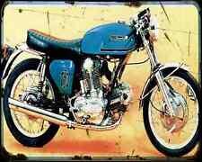 Ducati 750Gt prototype A4 métal signe Moto Vintage Aged