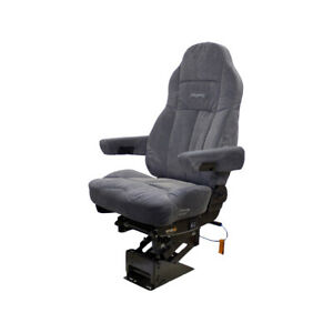 "Legacy KM-Silver Truck Seat Grey Fabric 22"" Cushion Width 51"" Seat Height  8307"