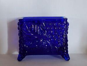 Stunning Cobalt Blue Boyd Glass Business Card Holder Cardholder