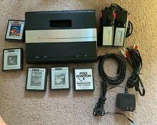 Atari 7800 Console w S-Video Mod, Re-capped, Power, 2 Joysticks + Games.