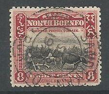 British Protectorate Used North Bornean Stamps