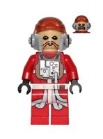 Lego Ten Numb 75050 Red Jumpsuit B-wing Star Wars Minifigure