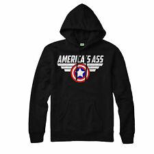 America's Ass Hoodie, Avengers Captain Rogers Marvel Adult & Kids Hoodie Top