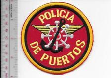 Puerto Rico Federal Police Maritime Unit Policia de Puertos Nacional Patch