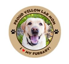 Proud Yellow Lab Mom Sticker - I Love My Furbaby Dog Labrador Retriever Decal