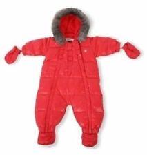 Baby Dior Dark Pink Snowsuit Pram suit Ski Down Natural Rabbit Fur hood trim