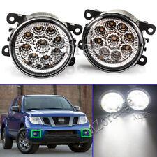 2X Full LED Front Bumper Fog Light Lamp For Nissan Frontier 2005-2019 Clear Lens