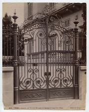 UNMOUNTED ALBUMEN PHOTO, WROUGHT IRON GATES. ITALY.