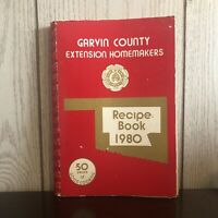 Used Vintage 1980 Garvin County Oklahoma Extension Homemakers Recipe Cookbook!!!