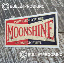 POWERED BY PURE MOONSHINE DECAL STICKER RETRO HOT ROD RAT ROD VINTAGE STICKERS