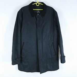 HAMPTON REPUBLIC Vintage Mens Black Lined 2-in-1 Removable Jacket Coat SIZE XL