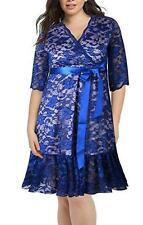 NEW~Women SIZE XL~Blue FORMAL LACE Dress~Wedding/Bridesmaid PROM Dress~$139.00
