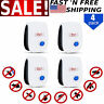 4 Pack Ultrasonic Pest Repeller Control Electronic Repellent Mice Rat Reject USA