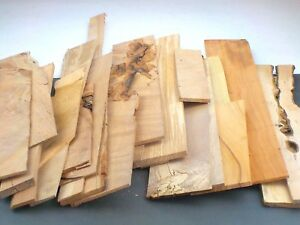 Sawn hardwood board offcuts. Mixed sizes & species. Craft, model making. 5kgUPOC
