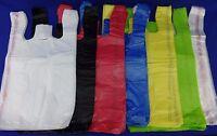 "11.5"" x 6"" x 21"" T-Shirt Bags Plastic Retail w/ Handles Variety of Colors & Qty."