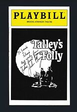 John Charney signed Talley's Folly Playbill cover (just cover)