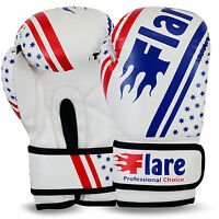 Flare Boxing Gloves Juniors Training Mitts Kids Punch Bag Sparring MMA