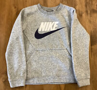 Nike Grey Jumper With Pocket On Front Age 6-7 116-122cm