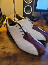 Adidas Adipure golf shoes brown & white, size 10.5