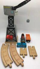 Thomas Wooden Railway Cranky Crane '01 Salty Cargo Car Crate Track Train Set Lot