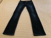 MAURICES SLIM LOW RISE BOOTCUT JEANS WOMEN SIZE S-REG DARK WASH STRETCH DENIM