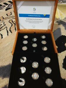 2016 Rio Olympic Games Bimetal Collection - 16 bimetal Brazilian coins