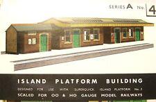 SUPERQUICK CARD KIT - Island Platform Building #A4 - HO / OO Model Trains