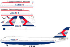 Canadian Boeing  747-400 Airliner Decal 1:144 scale for Revell kit