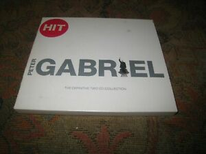 PETER GABRIEL HIT THE DEFINITIVE COLLECTION USED 2003 TWO DISC UK CD ALBUM.
