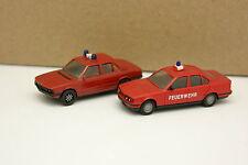 Herpa 1/87 HO - Set di 2 BMW 5 Vigili del fuoco Feuerwehr