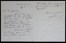 Président Alexandre MILLERAND autographe au général WEYGAND