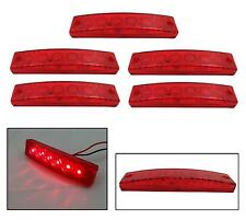 5 X 24V 24 Volt SMD 6 LED ROSSO INDICATORE LATERALE LUCE CAMION RIMORCHIO