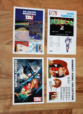 Old Collectible Card Donky Kong Super Turrican 2 Super Mario Kart Batman Forever