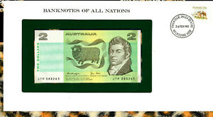 Banknotes of All Nations Australia 2 Dollars 1979 P-43c UNC Knight/Stone JTP