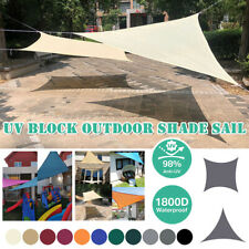 Sun Shade Sail Outdoor 98% UV Block Patio Suncreen Awning Garden Canopy Shelter