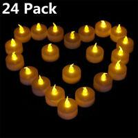 24PZ Bougie romantique de lumière de thé de la batterie LED sans flamme pour le