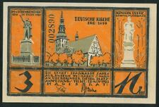 TILZE 3 Mark (1921) Tilsit Lithuania Germany