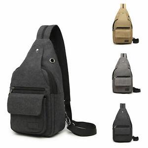 Men's Chest Pack Cross Body Bag Sling Shoulder Backpack Single Strap Rucksack