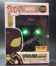 Funko Pop! BRIGHT GREEN LED Spiderman Stealth Suit #195 NightVision Exclusive!