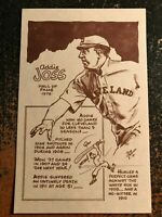 "Addie Joss Indians 1977-1981 Bob Parker HOF Series III 3.5"" x 5.5"" Card"