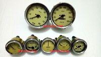 Smiths kit - Elec Temp + Oil + Fuel + Amp+ volt+ Gauge+kmph Speedo +Tacho 100 mm