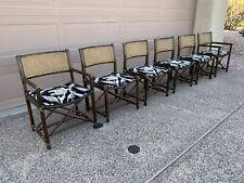 Mcguire Dining Chair Set 6 Bamboo Mid Century Modern Hollywood Regency Vintage
